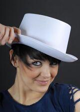 Victorian White Satin Top Hat