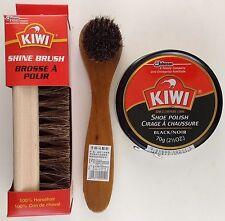 KIWI JUMBO BLACK  SHOE POLISH CREAM KIWI SHINE BRUSH & DAUBER, SELECT: Items