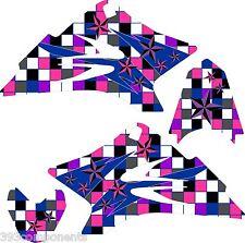 Girls Yamaha TTR 50 Graphics Decal Sticker Kit TTR50 Pink Purple Star 2006-2012
