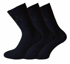 6 Paires Hommes Non Élastique Diabétique Costume Hiver agneaux laine Chaussettes Easy Grip UK 6-11