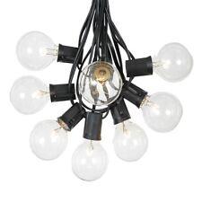 100 Foot G50 Outdoor Globe Patio String Lights - Set of 125 G50 E12 Clear Bulbs