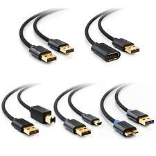USB Kabel USB2.0 USB3.0 Datenkabel miniUSB microUSB USB Verlängerung 1m 2m 3m 5m
