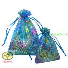"""12/25/50/100pcs Coralline Organza Pouch Wedding Party Favor Bag 4.7""""x3.5"""" 7x4.7"""""""