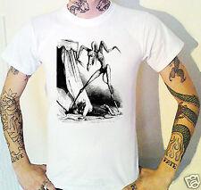 Victorian Demon engraving T-Shirt. Etching Satan Hell Horror Victoriana