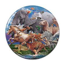 Multiple Animal Species Migration Pinback Button Pin Badge