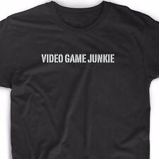 Video Game Junkie T Shirt Funny Geek Gamer Nerd Vintage Tee Gaming Arcade GTA