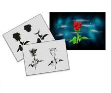 Step by Step Airbrush Schablone AS-189 Rose ~ Tattoo Stencil ~ UMR-Design