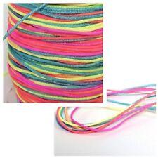 Nylonband Regenbogenfarbe Ø 1,5 mm zum Basteln 3-10 Meter Neu