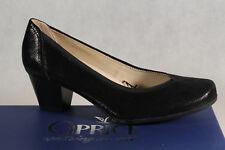 Caprice Zapatos De Tacón Zapatillas de Bailarina Negro Piel Real
