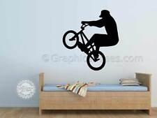 Bmx, Bicicleta, Stunt Rider, Arte De Pared Gráfica Autoadhesiva De, Chicos, Niños, Dormitorio