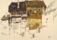 Egon Schiele: Old Houses in Krumau, 1914. Fine Art Print/Poster