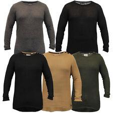 Jersey Para Hombre Línea Larga Soul Star Suéter Alta Baja Dobladillo Top de punto jersey de invierno