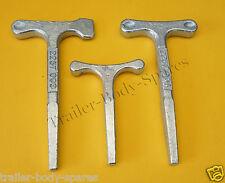 FREE UK POST - T Key Zinc Plated T Tee Key for Door Locks Trailers Horse Box