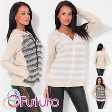 Ladies Elegant Hoodie With Fringe & Pockets Sweatshirt Jumper Sizes 8-12 FW17