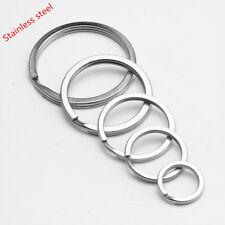 Wholesale Stainless Steel Flat  Split Key Ring  Key Chain 1  10 100 1000 2000PCS