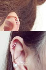 16g Leaf cartilage earring, helix earrings, leaf earrings, ear stud, 316L SS,1pc