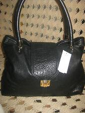 nwt halogen leather hanbag,satchel tote black