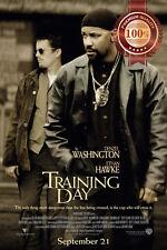NEW TRAINING DAY DENZEL WASHINGTON MOVIE ORIGINAL CINEMA PRINT PREMIUM POSTER