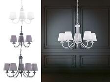 Landhausstil Krone aus Metall mit Stoffschirmen Deckenleuchten Esszimmerlampen