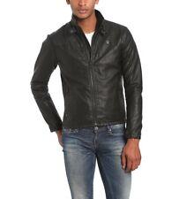 G-Star Forc Across Biker Jacket Men's Sz:M/L Raw Black Moto Jacket Rare