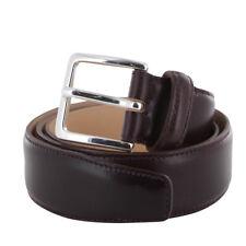 Fiori Di Lusso Burgundy Red Bridle Calf Leather Belt - (134)