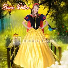 Adult Snow White Dress Cosplay Costume Hairband Cape Full Set FREE P&P