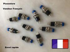 Mini Bouton Poussoir Interrupteur bleu NO Pour Voiture maquette Lot a choix