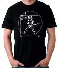 Camiseta Hombre Vitruvio guitarra guitar musico t-shirt camiseta manga corta