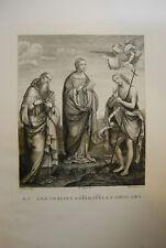 STAMPA INCISIONE ACQUAFORTE ETCHING GRAVURE OLD PRINT  F.ROSASPINA  reliquia