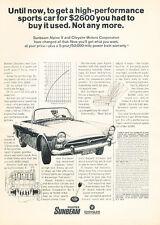 1967 Sunbeam Alpine Classic Vintage Advertisement Ad