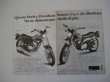 advertising Pubblicità 1977 MOTO HARLEY DAVIDSON 175 SS e 175 SX