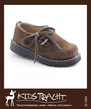 Kidstracht Trachtenschuhe Kinder- Schuh Haferlschuh nuss Gr 20 - 39 z Lederhose