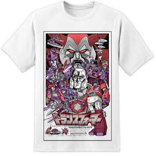 Para Hombre Retro Vintage Camiseta cartla película Transformers Decepticons el último caballero
