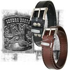 Sendra Leather Belt 8563 handmade padded black brown snaps easy buckle exchange