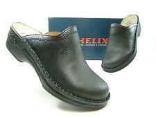 HELIX Schuhe Herrenschuhe Pantoletten Clogs, Schwarz, div. Größen, 52011-31