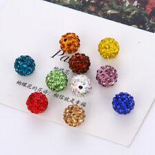 20x Round Shamballa Crystal Pave Clay Disco Ball Beads 8mm/10mm