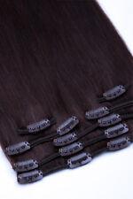 40cm Clip In Extensions 100% Remy Echthaar Haarverlängerung 16 Clips 7 Tressen