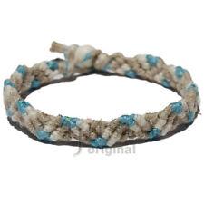 Natural, white and gin hemp Snake bracelet or anklet