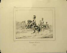 Lithographie de Delaunois,Cuirassiers Autrichiens