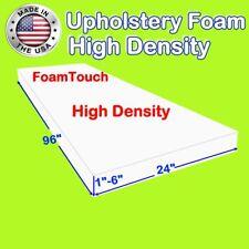 """High Density #FoamTouch Upholstery Foam size (1-6)"""" X 24"""" X 96"""""""