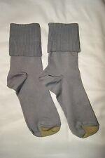 New Women's GoldToe 6 Pair Ultra Soft Turn Cuff Socks Black Grey and Multi Color