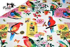 SPX Fat Quarter Tropical Dreams Maps Parrots Cotton Quilting Fabric