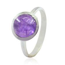 echte Edelsteine Cabochon Amethyst 925 Silber Ringe Geschenk für Jahrestag- DE