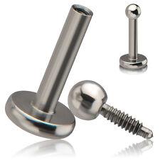 piercing labret vis interne inversé 3 longueurs de tiges disponibles LAB 100300