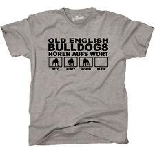 T-Shirt Hund Hunde OLD ENGLISH BULLDOGS Hören aufs Wort fun Siviwonder bis 4XL