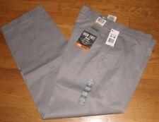 Dockers Iron Free Khaki Dress Pants Classic Fit D3 Flat Flex Comfort Gray New