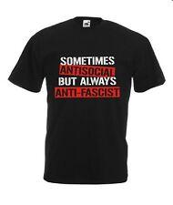 T-Shirt Größe S - 4XL sometimes antisocial but always antifascist Punk Skinhead