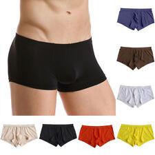 Men Lingerie Soft See Through Underwear Ice Silk Boxer Briefs Shorts Underpants