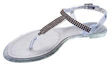i-Smalls Ladies Strass Silver Open Toe Summer Sandal Flip Flops Holiday Uk 3-8