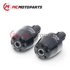 Black MC Motoparts MSHINE CNC Bar End Weights For Kawasaki ZX12R 2000-2006 01 02 03 04 05